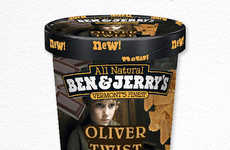 Literary Ice Cream Concepts - Classic Novels are Represented with These Book-Inspired Ice Creams