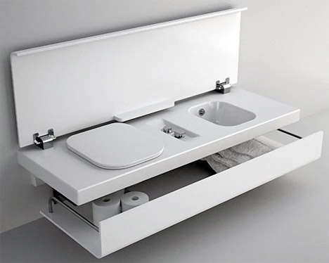 fold-up bathroom