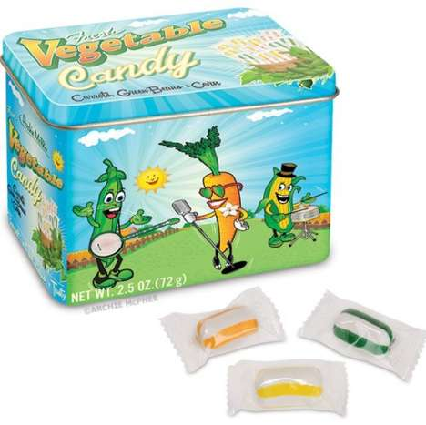 Veggie-Flavored Sugar Treats - Fresh Vegetable Candy Defeats the Purpose of a Healthier Diet