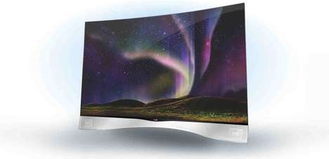 Contoured TVs - The New LG Curved OLED TV Delivers an Immersive Viewing Experience