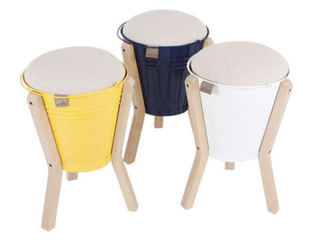 Bucket Stool by Pedersen and Lennard