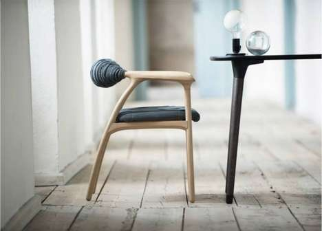 Spooled Backrest Seating - The Haptic Chair by Trine Kjaer Design Studio Focuses on Textures
