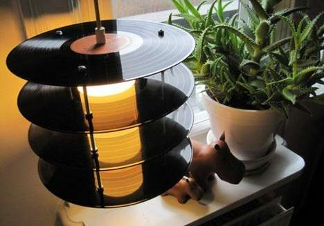 Vinyl Record Lighting - The LP Table Lamp by Genanvendt is Stylishly Retro