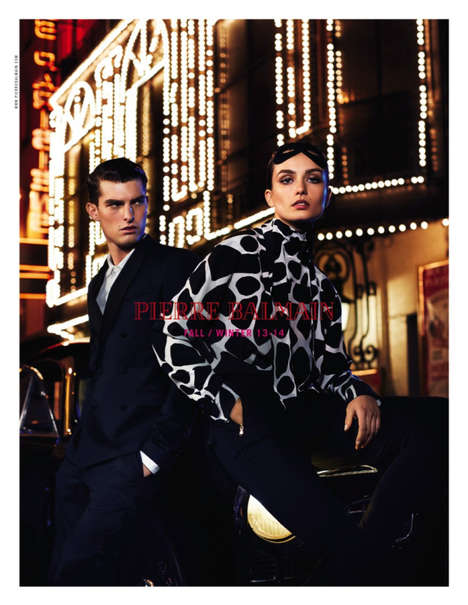 Mysterious Nighttime Fashion Ads - The Pierre Balmain Fall 2013 Campaign Stars Andreea Diaconu