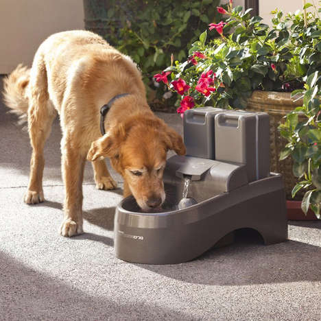 Water-Filtering Canine Fountains - The Drinkwell Outdoor Dog Fountain is Perfect for Hot Summer Days