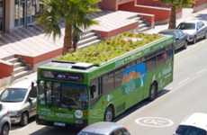 Public Rooftop Bus Gardens - Phytokinetic Technology on Public Buses Improves Air Quality