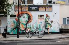 Colorful Feminized Street Art