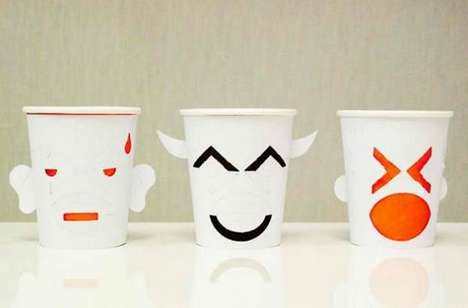 Interactive Emoji Cups - The Creative Paper Cups from Up Mug are Both Adorable and Customizable