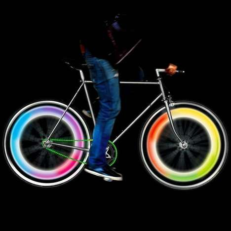 Psychedelic Bicycle Lights - These Groovy Bike Wheel Lights Improve Visibility and Look Intense