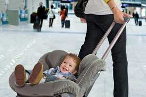 The Brica Roll'n Go Makes Car Seat Airplane Travel Much Easier