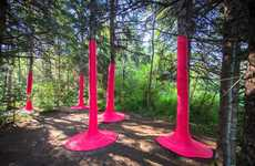 Coiled Pink Tree Installations