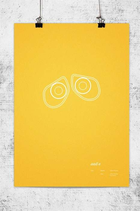 Minimalist Character Feature Art - The Wonchan Lee Posters Show Iconic Features of Pixar Characters