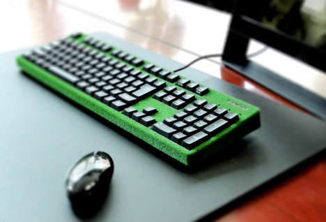 Grassy Computer Keyboards - The Midori by FILCO is Designed to Stimulate Your Fingers as You Type