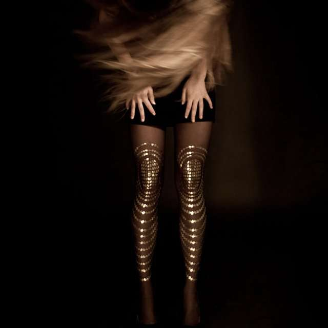 Shimmering Scale Tights