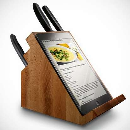 Tablet-Holding Knife Blocks - The Victorinox Knife Block Provides a Perfect Spot for Tablets