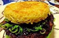 Gigantic Ramen Noodle Burgers