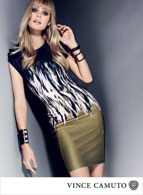 Femme Fatale Fashion Ads - The Vince Camuto Fall Campaign Stars Model Inguna Butane