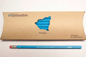 Each Pencil Packaging Design Refers to the Country it is Helping