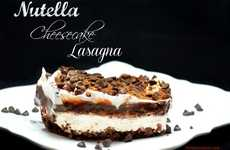Choco-Hazelnut Cheesecake Lasagnas - This Nutella Cheesecake Creation is Mouth-Wateringly Good