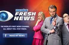 The Mentos 'Fresh News' Facebook App Generates News Reports for Users