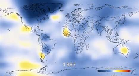 Alarming Temperature Visualizations - This Chilling NASA Clip Shows 130 Years of Climate Change