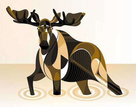 Patterned Critter Depictions - Matt Moore
