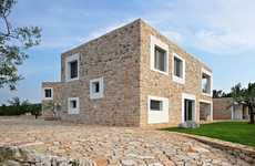 Juxtaposed Stone Houses