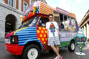 Henry Holland Transformed an Ice Cream Van to a Pop-Up Store