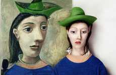 Realistic Modern Art Faces - Twenty-Year-Old Artist Flora Borsi Re-Imagines Iconic Paintings