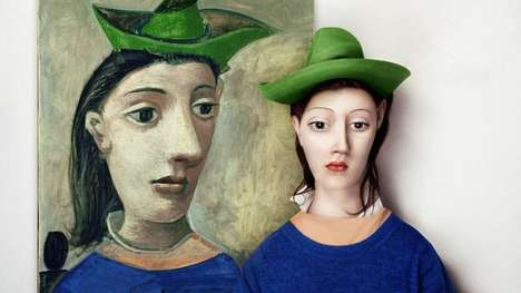 Realistic Modern Art Faces - Twenty-Year-Old Artist Flora Borsi Re-Imagines Iconic Paintings