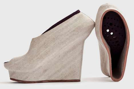 Fibrous Footwear Designs - The Liz Ciokajlo Natural Selection Collection is Made Out of Eco Material