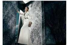 Fiercely Dark Fashion Ads - The Gizia Fall Campaign Stars Model Juju Ivanyuk