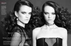 Dramatic Hairstyle Editorials - The ELLE Canada 'Masterpiece Theatre' Photoshoot is Edgy