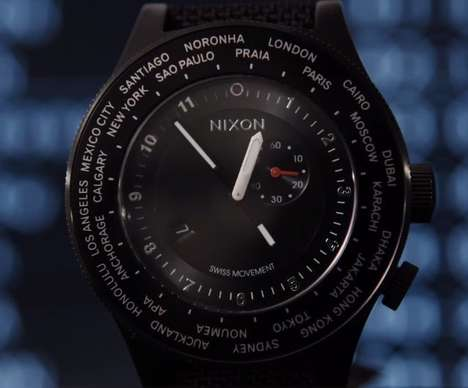 Sleek Time Zone Watches - Nixon's Travel Watch is Perfect for Seeing the World