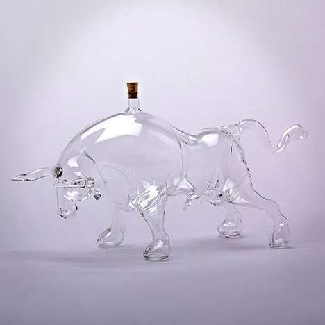 Charging Bull Decanters - The Glass Decanter from