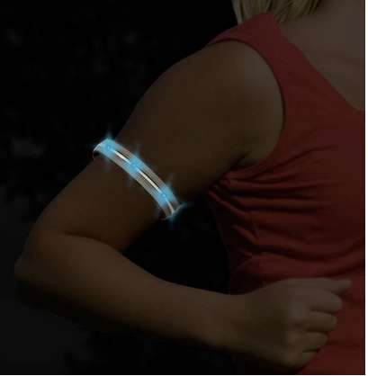 Safety Exercise Night Lights - This Lightguide Armband is a Safe Way to Stay Fit