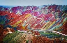 Rainbow-Hued Mountain Photography