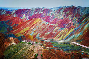 China's Danxia Landform Geological Park is Impossibly Gorgeous