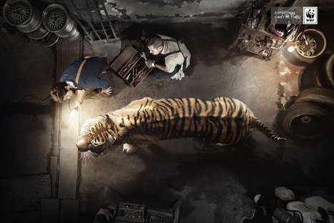 Beast-Repairing Ads - This WWF Promotion Features Animals Being Treated Like Autos