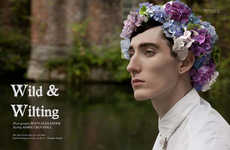 From Masculine Male Floral Crowns to Overwhelming Flower Headpieces