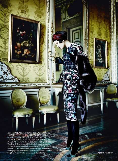 Dazzlingly Poised Diva Editorials - The Vogue UK Showcases Fall's Opulence Grace