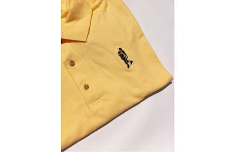 Rapper-Replaced Shirt Logos - Give Your Wardrobe a Famous Edge with the Drake Yolo Polo