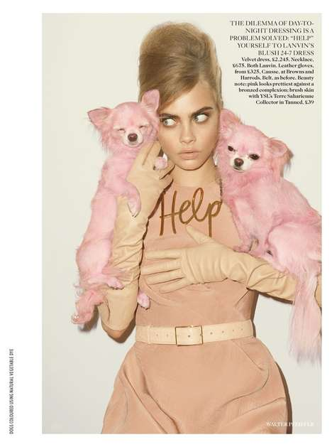 Blushing Babydoll Editorials - The UK Vogue Cara Delevigne Exhibits the Femininity of Fall Offerings