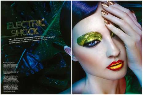 Exaggerated Shimmer Editorials - The Electric Shock Heren Image Series is Vibrantly Hued