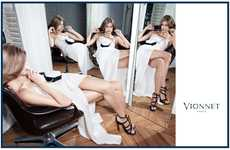 Fiercely Reflected Fashion Ads - The Vionnet Fall Campaign Stars Model Malgosia Bela