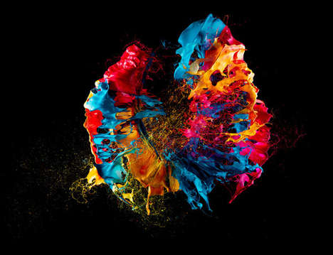 Air-Pressured Paint Photography - Liquid Jewel by Fabian Oefner is Vibrantly Splattered
