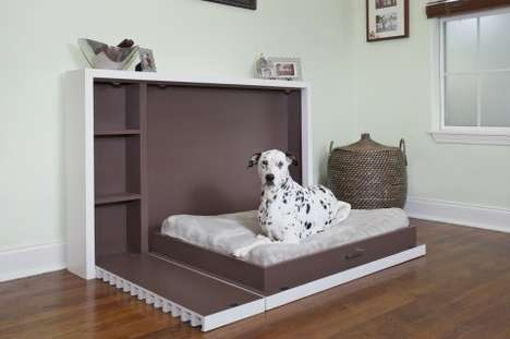 Fold-Out Canine Cots - This Pet Bed Features a Modern Design and Saves Space