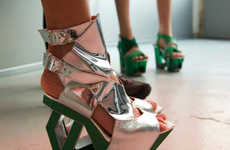 43 Futuristic Geometric Shoes