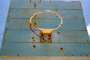 Adrian Skenderovic Captures Abandoned Basketball Courts in the Jungle