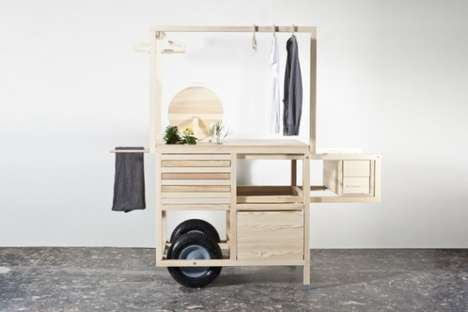 Pop-Up Retail Carts - COS Releases a Minimalist Pop-Up Cart to Showcase its Stylish Clothes